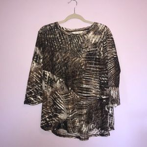 Erin London Animal Print Top